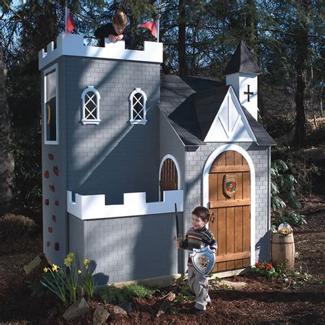 castle play house woodwork castle playhouse kit pdf plans