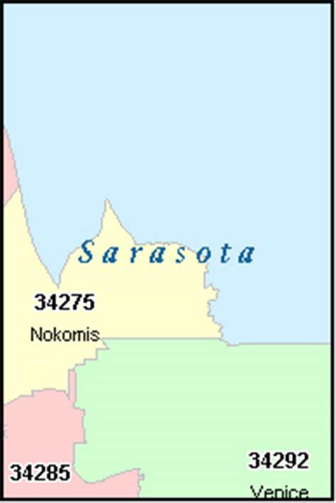 zip code map sarasota sarasota county florida digital zip code map