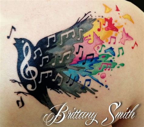 elephant tattoo with music notes rainbow music notes tattoo www pixshark com images