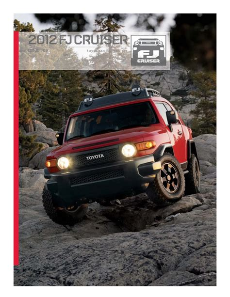 fj cruiser dealership 2012 toyota fj cruiser brochure in ta florida dealer