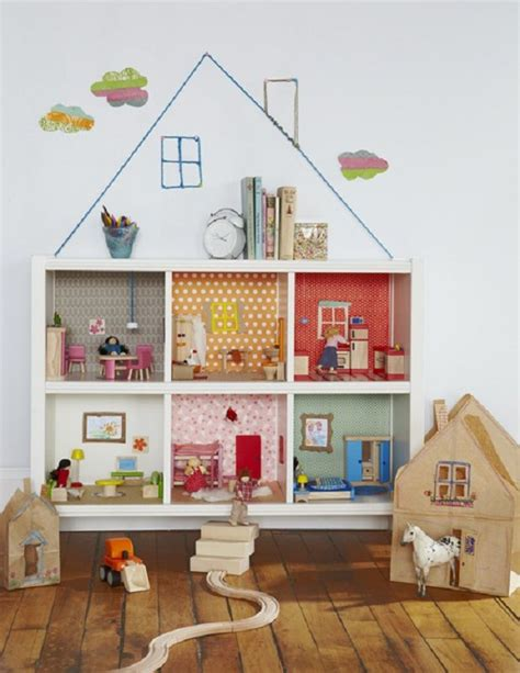 diy bookcase dollhouse playroom kid s rooms