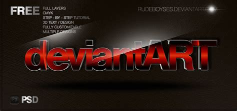 psd templates for photoshop free free 3d text psd graphics by rudeboyses on deviantart