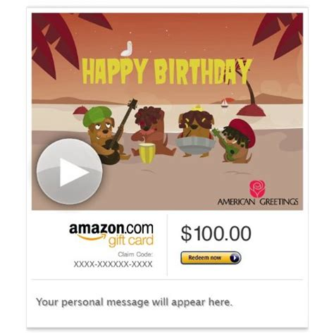 Amazon Gift Card By Email - amazon gift card email reggae birthday song animated american greetings