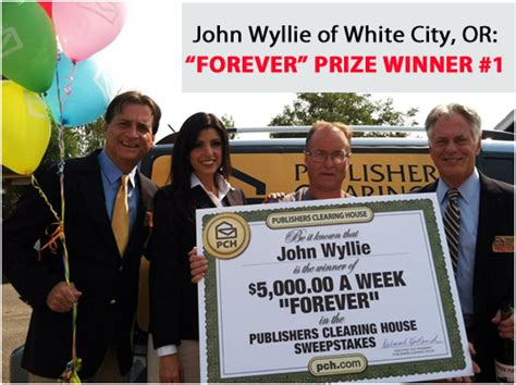 What Happens When You Win Publishers Clearing House - will you become our third 5 000 a week quot forever quot prize winner pch blog