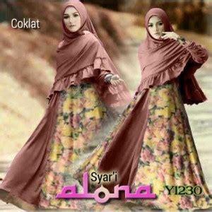 Mikaila Syari Maxi Free Bergo gamis bergo alona y1230 baju muslim modern umbrella