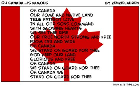 Oh Canada The For And - oh canada is bitstrips