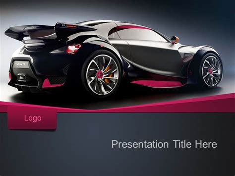 free sport car ppt template