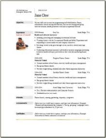 sports fitness resume occupational exles sles free
