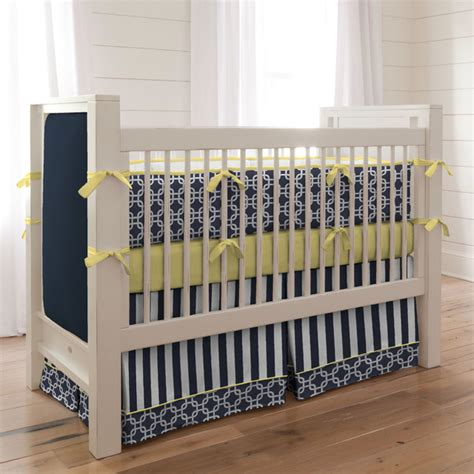 Yellow And Blue Crib Bedding by Navy And Yellow Geometric Crib Bedding