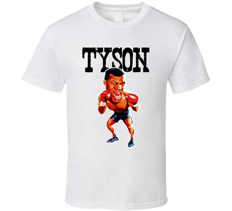 Tshirt Mike Tyson Boxing mike tyson caricature boxing vintage t shirt