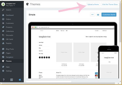shopify themes setup shopify how to install the template template monster help