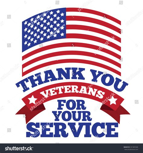 thank you card template for veterans veterans day thank you design royalty stock illustration