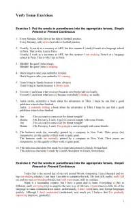 past tense verb test pdf modal verbs past participle