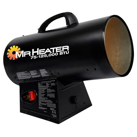Propane Forced Air Garage Heater by Mr Heater 174 Forced Air 125k Propane Heater 624255