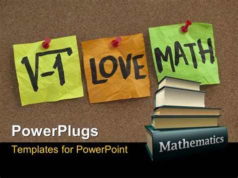 templates for powerpoint on maths powerpoint template i love math humorous concept with