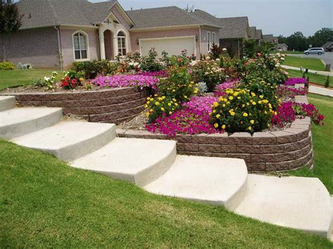 small sloped backyard gardening landscaping small front yard landscape ideas