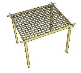 Simple Roof Designs Craftmen Simple Pergola Plans Free Info