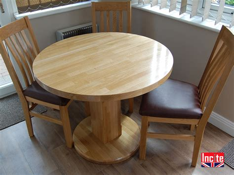 custom handmade american oak pedestal dining table