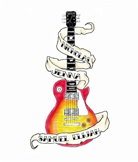 guitar tattoo designs art guitar design by voodoodaddy1975 on deviantart