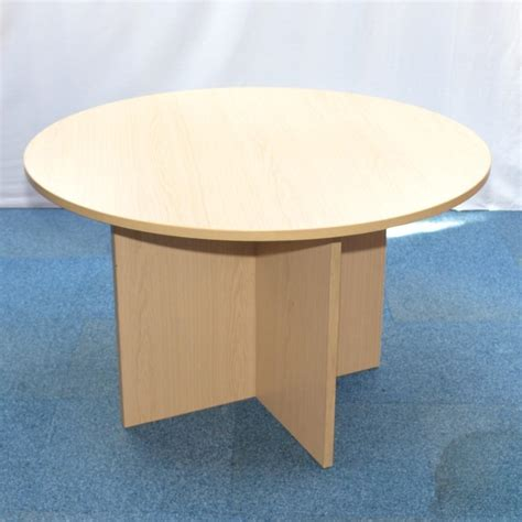 Oak Meeting Table Oak 1200d Meeting Table
