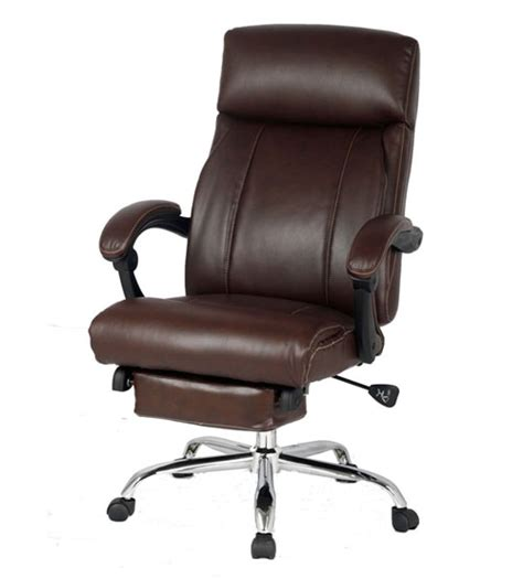 office chair with headrest and footrest viva office 174 new high back ergonomic brown bonded leather