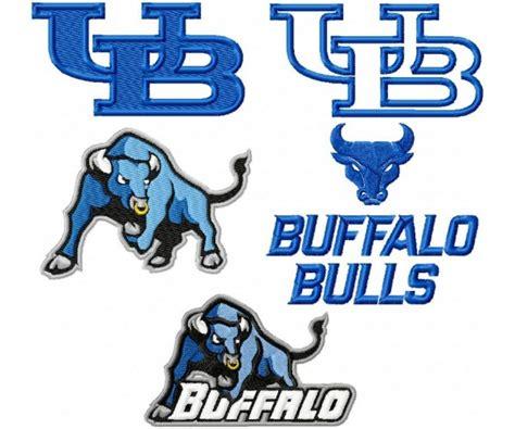 university  buffalo bulls logo machine embroidery design