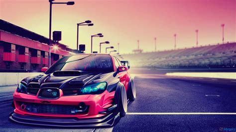 Subaru Impreza Modified Car Hd Wallpaper