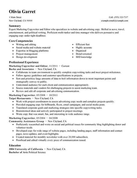 Marketing Resume Examples   Marketing Sample Resumes