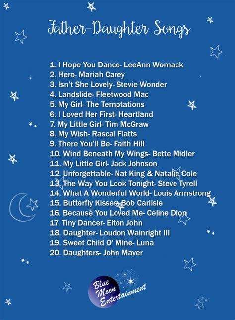 The Best Father Daughter Dance Songs   The One Bride Guide