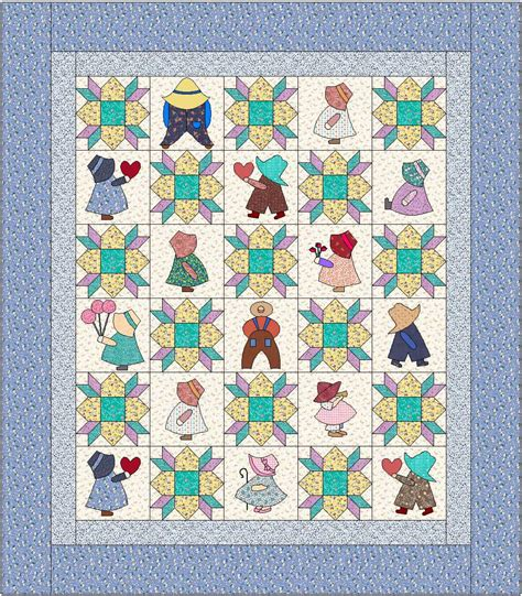 quilt pattern sunbonnet sue sunbonnet sue quilt pattern instant download pdf quilt is