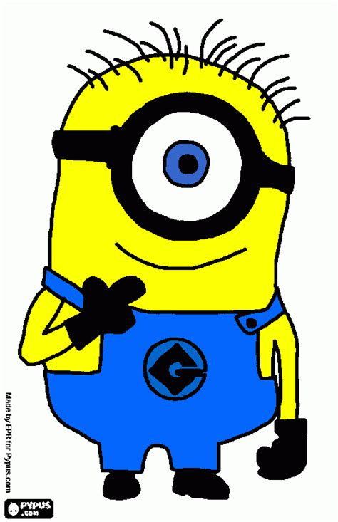 minion carl coloring page minion with one coloring page printable minion with one