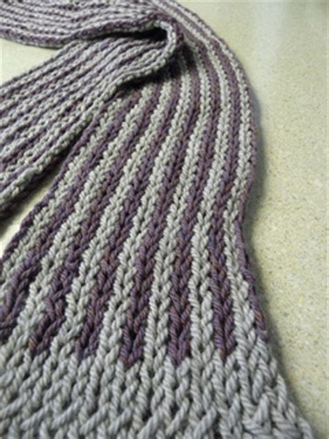 free knitting pattern scarf double knit ravelry loom double knit striped scarf l10025 pattern by