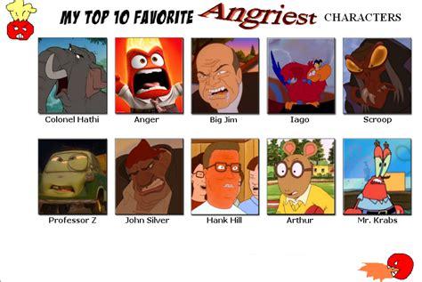 Popular Meme Characters - my top ten angry characters meme by elchupacabra51 on