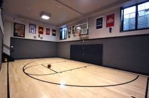 residential indoor basketball court