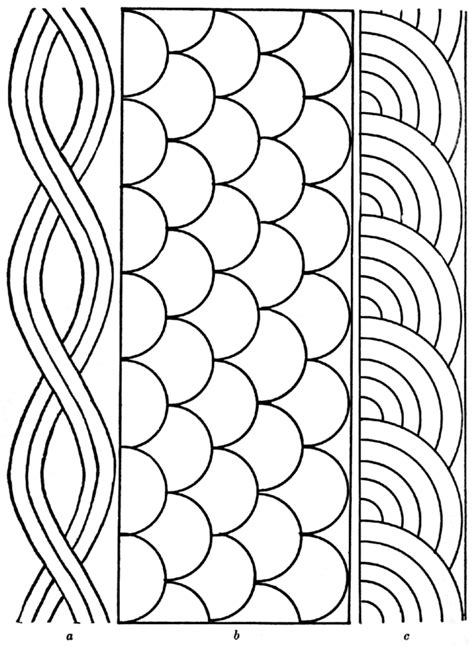 Free Rope Shell Fan Quilting Pattern Quilting Pinterest Hand Quilting Patterns And Shell Template Design Pattern