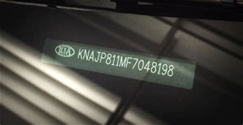 Kia Vin Decoder Servicing Parts Safety Caigns 183 New Suvs Hybrids