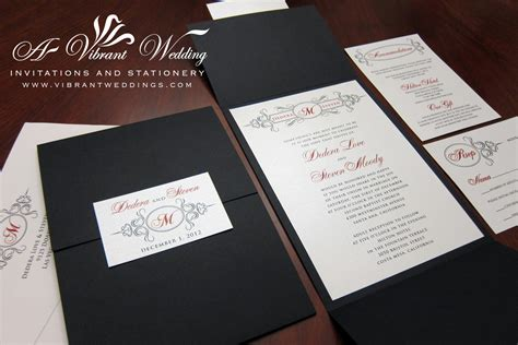 black wedding invitation sets addressing your envelopes a vibrant weddi on trifold black wedding invitations set the stage for