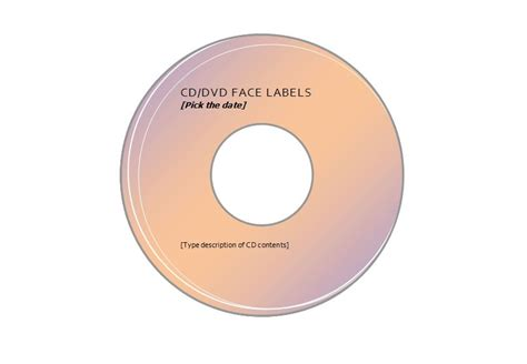 Compatible With Avery Cd Label Template 5931 Cd Labels Template Free