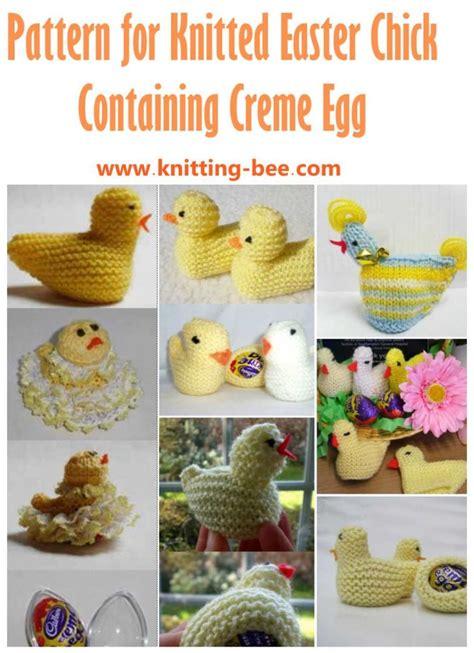 knitting pattern easter chick creme egg free free easter knitting patterns for creme eggs patterns