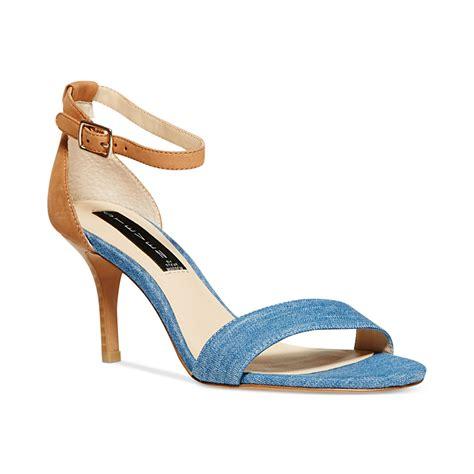 madden sandals steven by steve madden vienna sandals in metallic lyst
