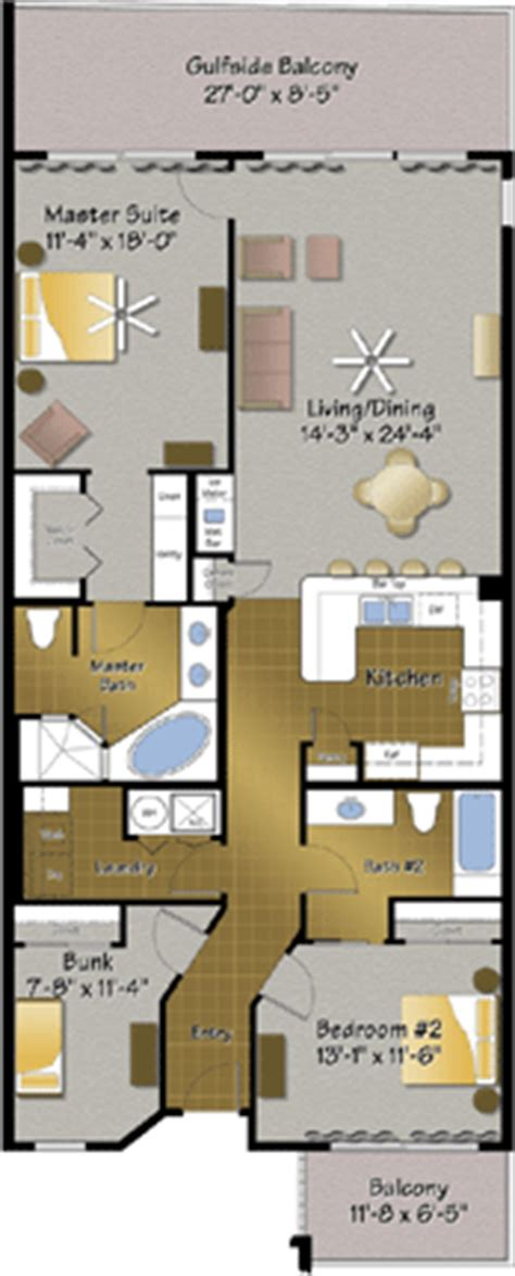 majestic beach resort floor plans condo types resort collection