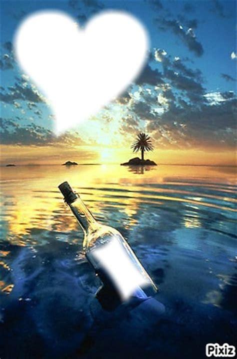 montage photo bouteille  la mer pixiz