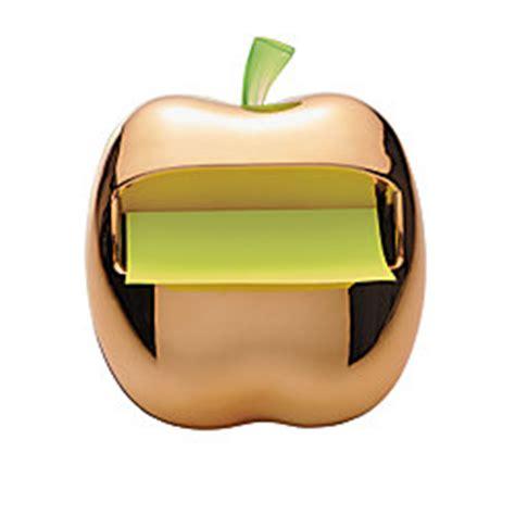 post it bureau mac post it pop up shaped note dispenser gold apple 3 x 3
