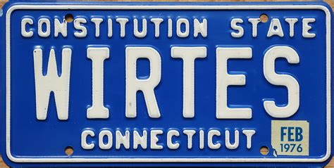 Vanity Plate Ct by 76 Connecticut
