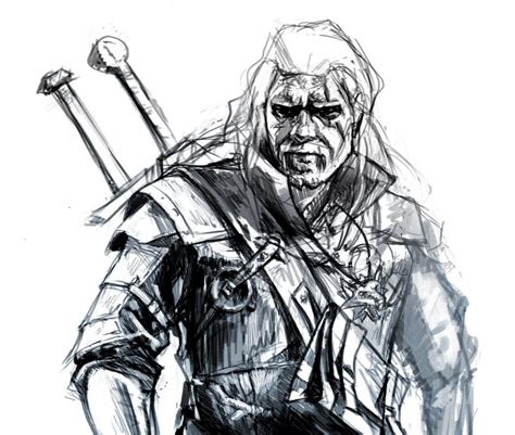 Witcher 3 Sketches by Gallery Of Geralt Of Rivia The Witcher 3 By Josiyeah On