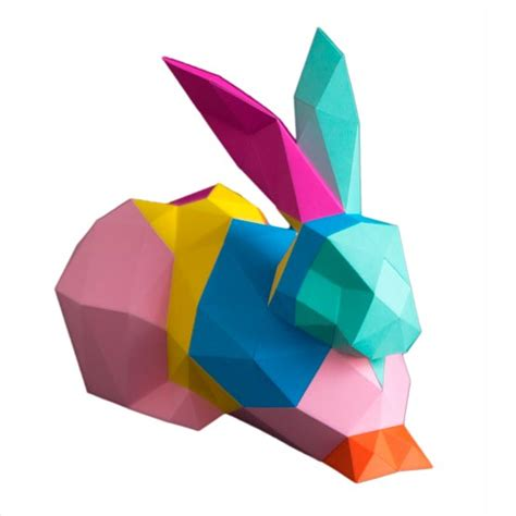 3d origami hase pferdekopf 3d papershape