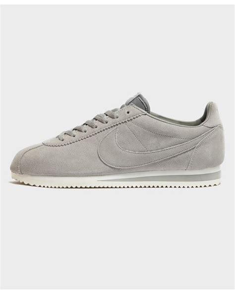 Nike Smith Suede Slip On Abu lyst nike cortez suede in grey for