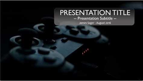 gaming powerpoint templates controller powerpoint template 9822 free powerpoint