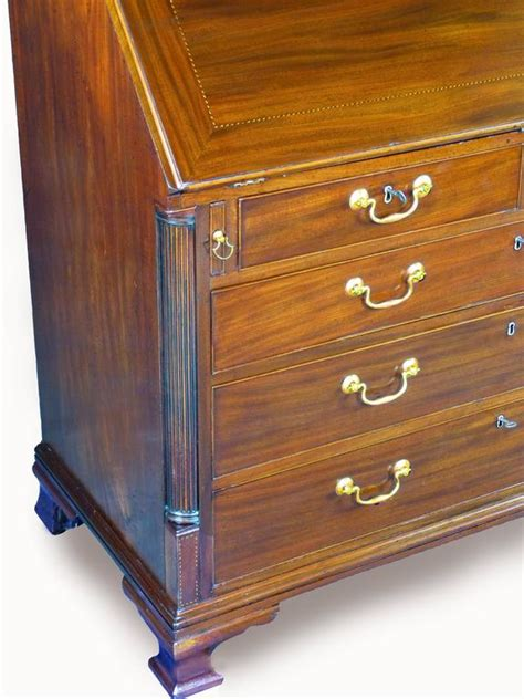 Desk With Secret Compartments For Sale by 18th Century Georgian Bureau Desk With Secret Compartments