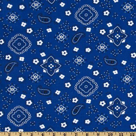 printable fabric material bandana prints royal discount designer fabric fabric com